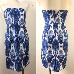 J.crew size 4 silk strapless dress